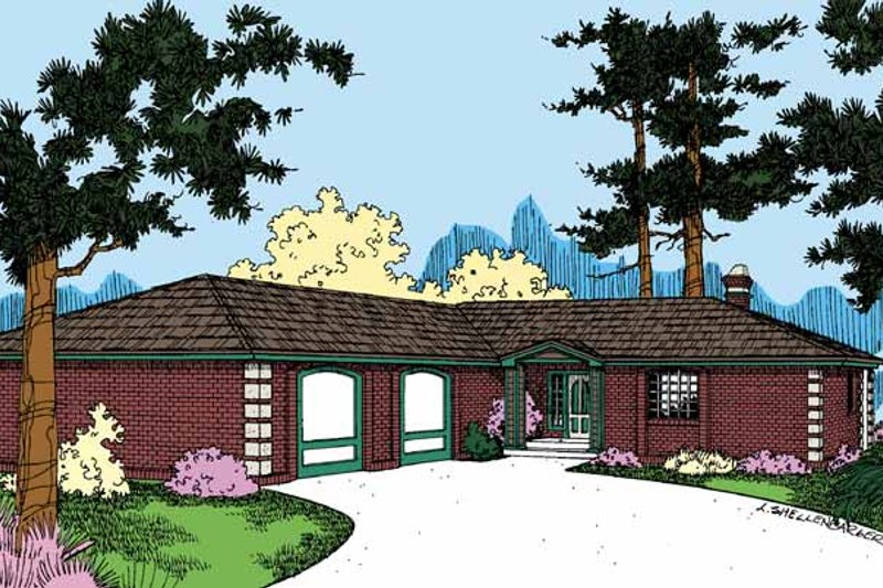 Contemporary Exterior - Front Elevation Plan #60-728 - Houseplans.com