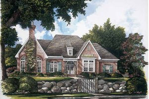 Country Exterior - Front Elevation Plan #952-246