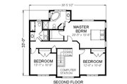 Traditional Style House Plan - 3 Beds 2.5 Baths 2252 Sq/Ft Plan #414-108 Floor Plan - Upper Floor