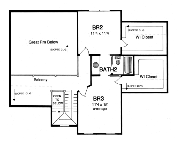 Traditional Floor Plan - Upper Floor Plan Plan #316-292