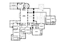 Mediterranean Floor Plan - Upper Floor Plan Plan #1058-16