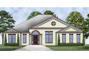 Home Plan - Colonial Exterior - Front Elevation Plan #119-415