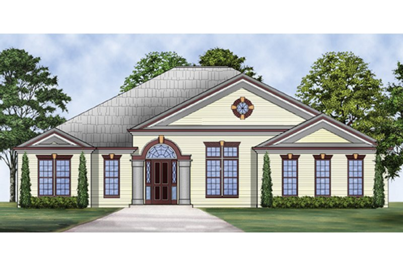 Colonial Exterior - Front Elevation Plan #119-415