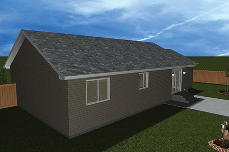 Ranch Exterior - Rear Elevation Plan #1060-3 - Houseplans.com