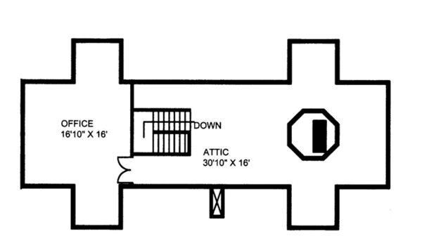 Colonial Floor Plan - Upper Floor Plan Plan #117-845
