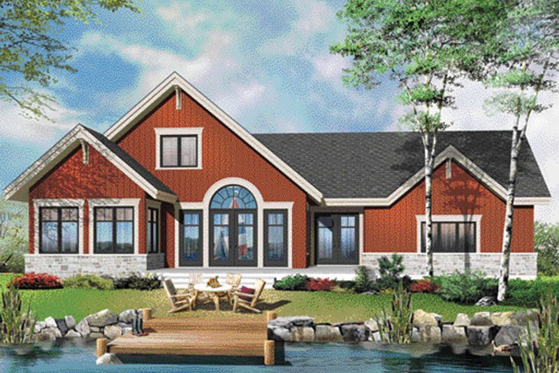 Country Exterior - Rear Elevation Plan #23-2590 - Houseplans.com