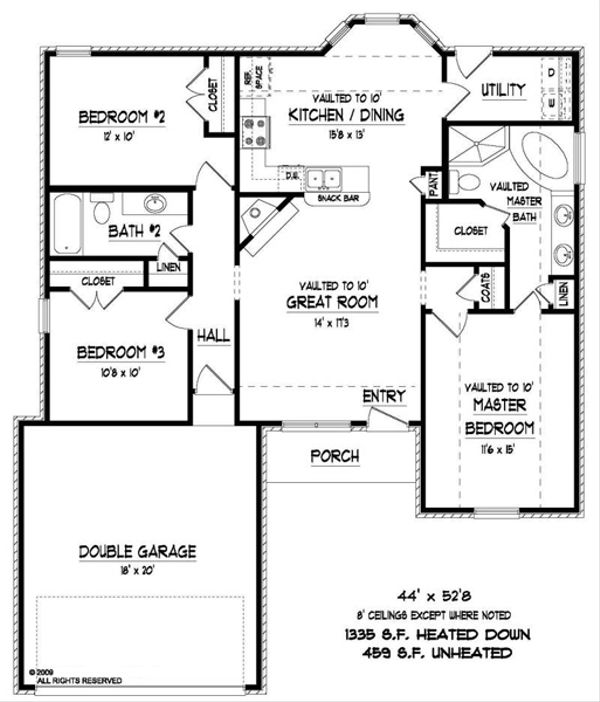 Traditional Floor Plan - Main Floor Plan Plan #424-274