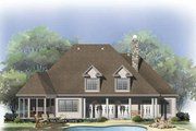 Traditional Style House Plan - 4 Beds 3.5 Baths 3138 Sq/Ft Plan #929-811 Exterior - Rear Elevation
