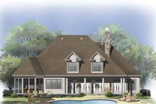 House Plan Design - Traditional Exterior - Rear Elevation Plan #929-811
