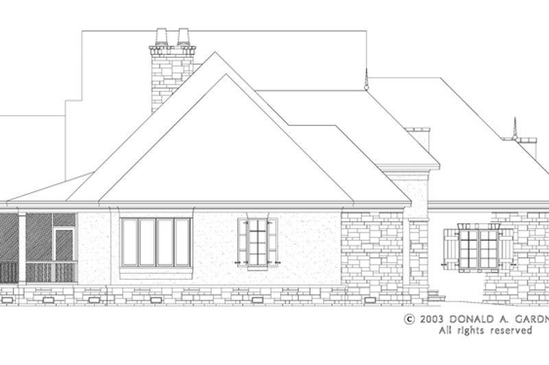 European Exterior - Other Elevation Plan #929-942 - Houseplans.com