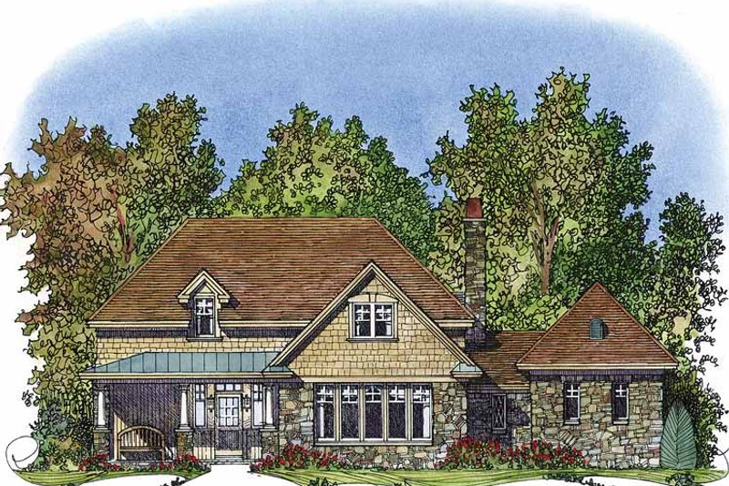 Country Exterior - Front Elevation Plan #1016-69 - Houseplans.com
