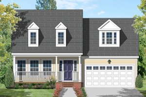 Home Plan - Traditional Exterior - Front Elevation Plan #1053-41