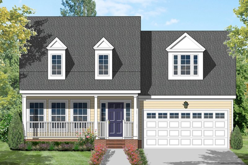 Dream House Plan - Traditional Exterior - Front Elevation Plan #1053-41