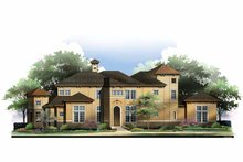 Mediterranean Exterior - Front Elevation Plan #952-210