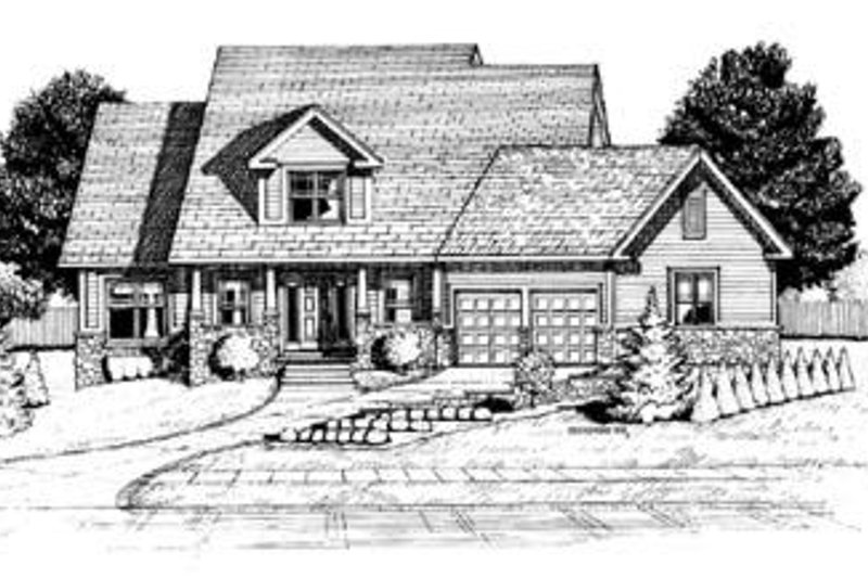 Home Plan - Traditional Exterior - Front Elevation Plan #20-470