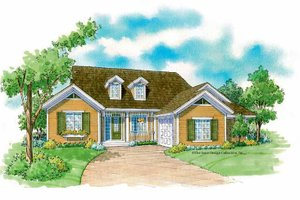 Country Exterior - Front Elevation Plan #930-233