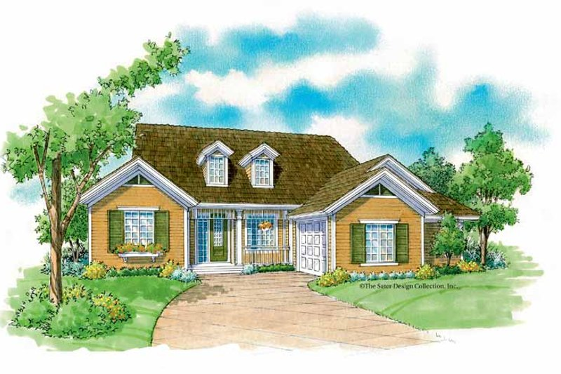 Architectural House Design - Country Exterior - Front Elevation Plan #930-233