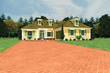Home Plan Design - Southern Exterior - Front Elevation Plan #930-438
