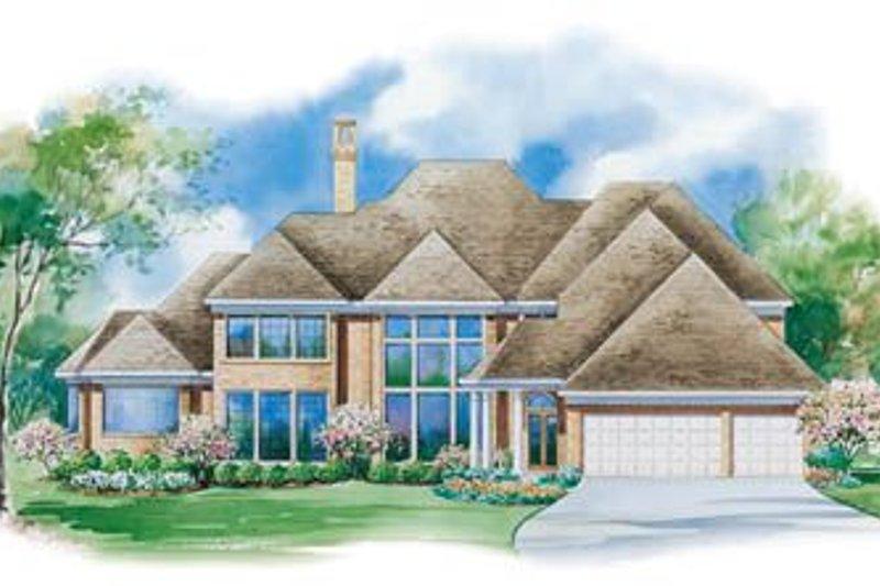 Traditional Exterior - Rear Elevation Plan #20-1186 - Houseplans.com