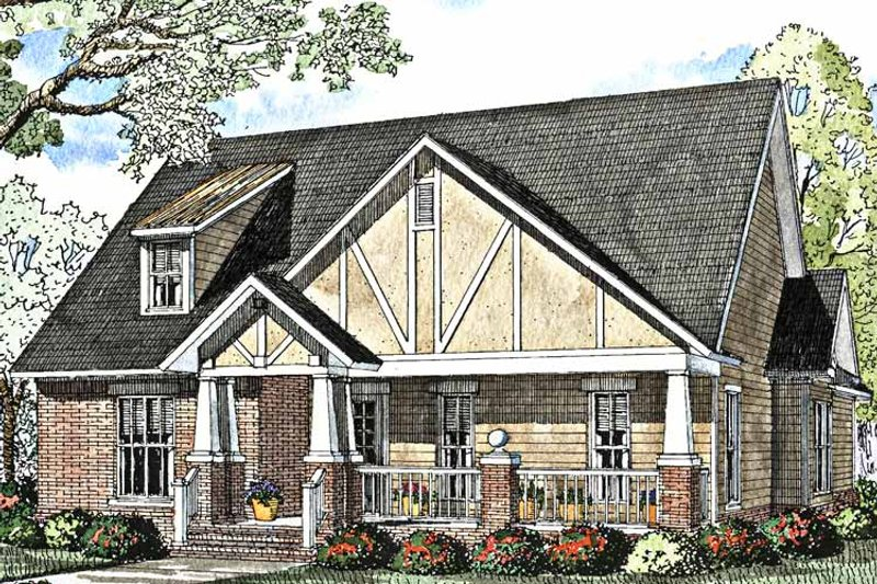 Craftsman Exterior - Front Elevation Plan #17-3012 - Houseplans.com