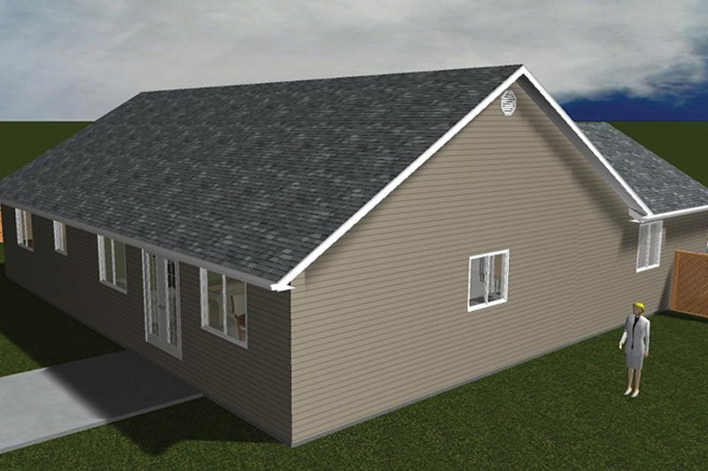 Ranch Exterior - Other Elevation Plan #1060-14 - Houseplans.com