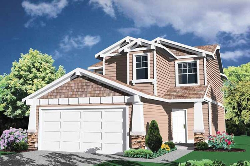 Prairie Exterior - Front Elevation Plan #509-178 - Houseplans.com