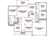 House Plan - 4 Beds 4 Baths 2481 Sq/Ft Plan #63-283 Floor Plan - Main Floor Plan