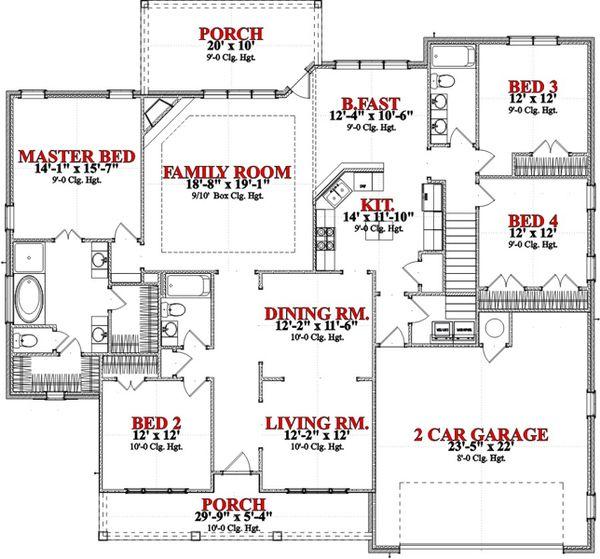 Floor Plan - Main Floor Plan Plan #63-283