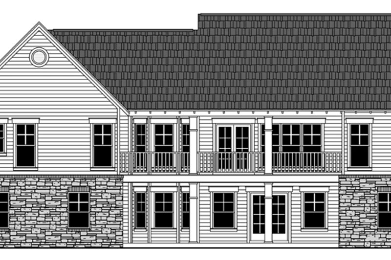 Country Exterior - Rear Elevation Plan #21-429 - Houseplans.com