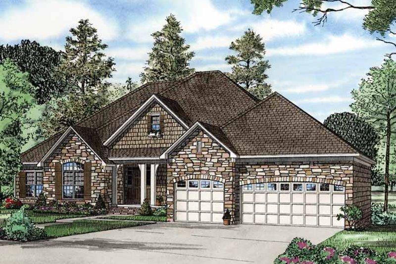 Contemporary Exterior - Front Elevation Plan #17-2763 - Houseplans.com