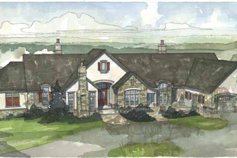 European Exterior - Front Elevation Plan #928-37 - Houseplans.com