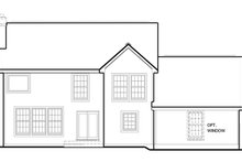 Colonial Exterior - Rear Elevation Plan #1053-71