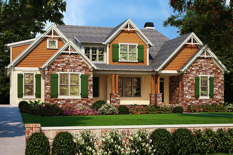 Architectural House Design - Country Exterior - Front Elevation Plan #927-984