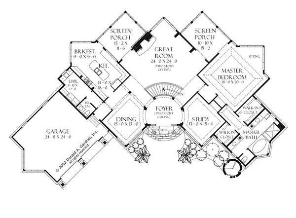 European Floor Plan - Main Floor Plan Plan #929-941