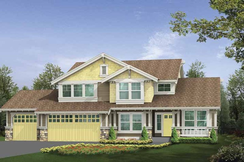 Craftsman Exterior - Front Elevation Plan #132-357