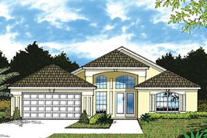 Mediterranean Exterior - Front Elevation Plan #417-828