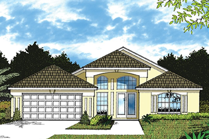 House Plan Design - Mediterranean Exterior - Front Elevation Plan #417-828