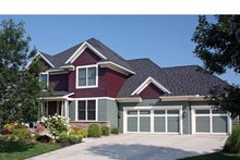 Architectural House Design - Country Exterior - Front Elevation Plan #51-1053