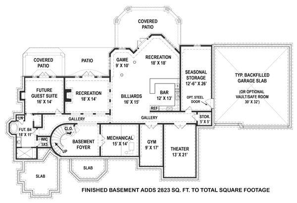 Home Plan - Optional Finished Basement