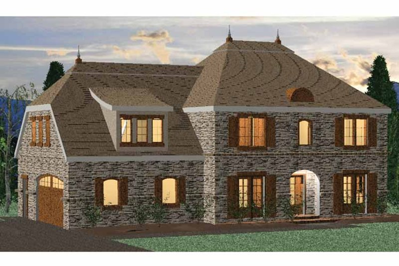 Country Exterior - Front Elevation Plan #937-5