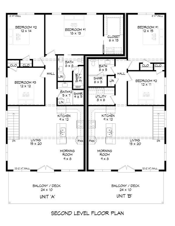 Contemporary Floor Plan - Main Floor Plan Plan #932-51