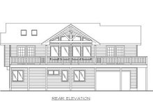 House Design - Beach Exterior - Rear Elevation Plan #117-527