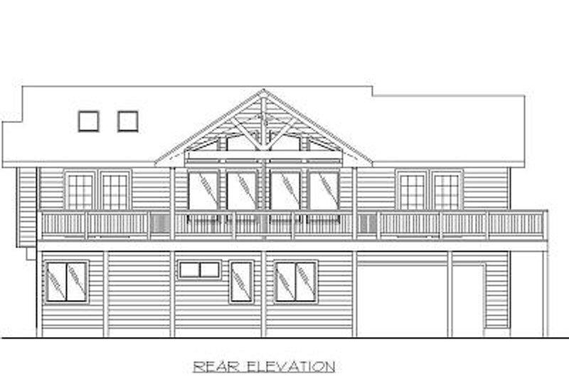 Beach Exterior - Rear Elevation Plan #117-527 - Houseplans.com