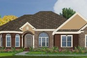 European Style House Plan - 4 Beds 3 Baths 2620 Sq/Ft Plan #63-174 Exterior - Front Elevation