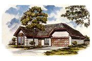 Traditional Style House Plan - 3 Beds 2 Baths 1860 Sq/Ft Plan #30-160 Exterior - Other Elevation