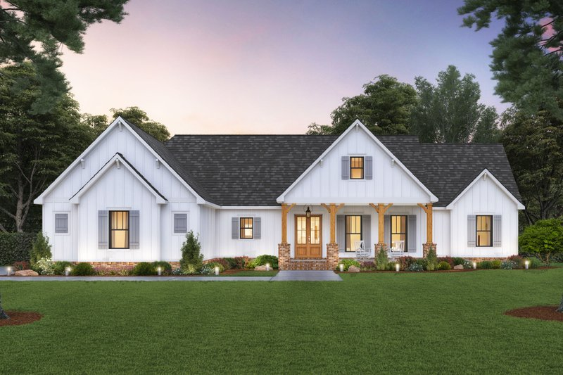 Dream House Plan - Farmhouse Exterior - Front Elevation Plan #1074-42