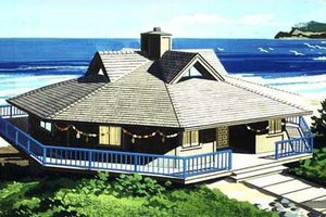 Beach Exterior - Front Elevation Plan #320-292