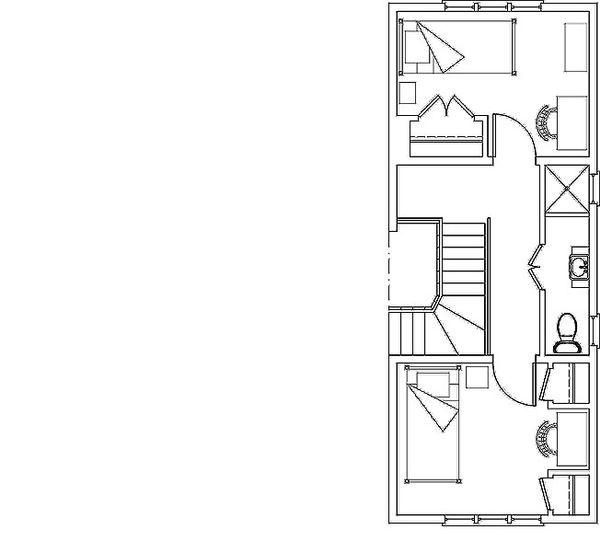 Craftsman Floor Plan - Upper Floor Plan Plan #492-6