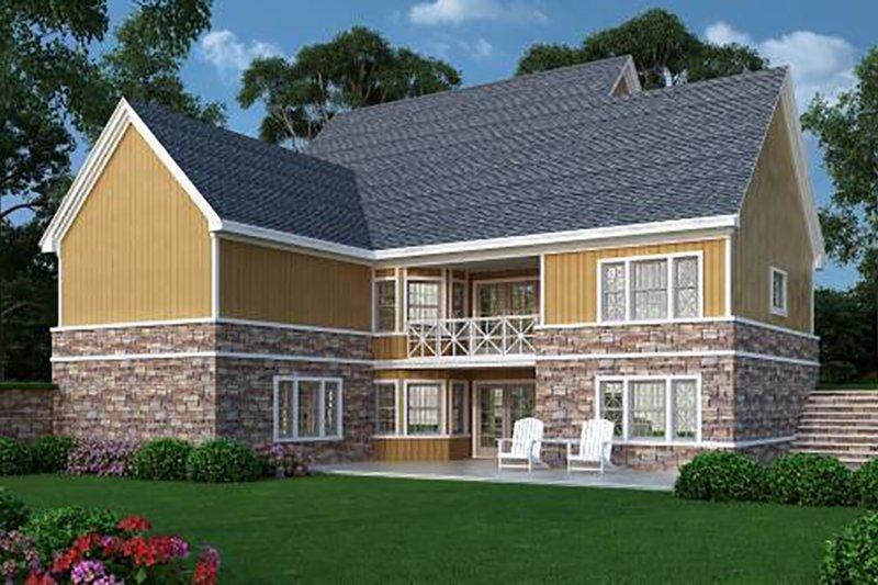 Farmhouse Exterior - Rear Elevation Plan #45-370 - Houseplans.com