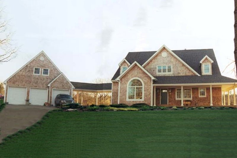 Architectural House Design - Country Exterior - Front Elevation Plan #3-220